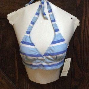 NWT Striped bikini top